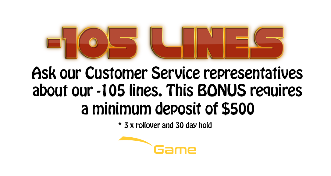 betagame.ag -105 lines promotion